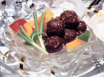 Savory Bison Oven Roasted Meat Balls